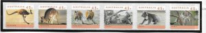 Australia #1295a  Threatened Species S/S strip of 6 (MNH)  CV $8.00