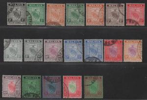 $Malaya-Negri Sembilan Sc#21-35 used/VF, complete set, Cv. $479.40