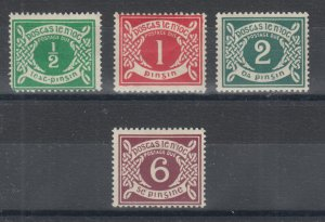 Ireland Sc J1-J4 MOG. 1925 Postage Dues, cplt set with small faults.