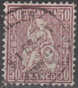 Switzerland #67 F-VF Used CV $475.00 (B13385)