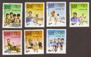 Guinea-Bissau #489-95 CTO olympics cpl