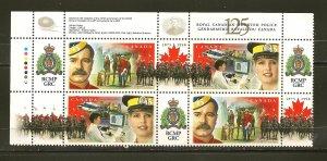Canada 1736-1737 RCMP 125th Anniversary Corner Block of 4 MNH