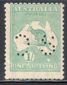 Australia ---PERFIN--- #10 MINT H