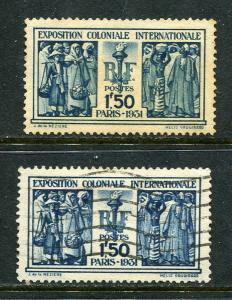 France Lot 6605 Republique Francaise 1931 YVERT 274 OGGHR and 274 used 1f.50 Ble