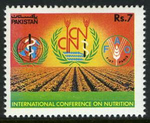 Pakistan 777, MNH. Intl. Conference on Nutrition, Rome, 1992