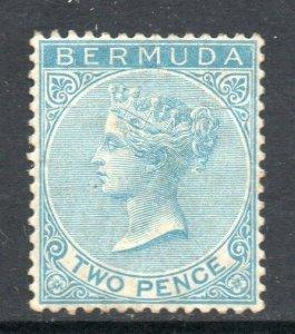 Bermuda 1883 QV 2d blue wmk crown CA SG 25 mint CV £75