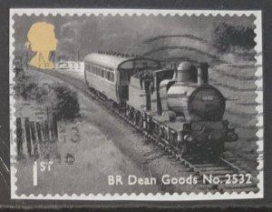 GREAT BRITAIN 2011 CLASSIC LOCOMOTIVES SELF ADHESIVE  SG3215  USED