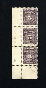 Canada #J18   used  1933-65 PD
