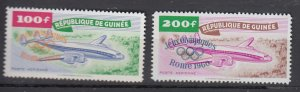 J25832  jlstamps 1960 guinea mnh part of set #c24-5 ovpt,s airplanes