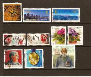 CANADA  EARLY COMMEMORATIVES STAMPS USED FOR 2010 LOT#171