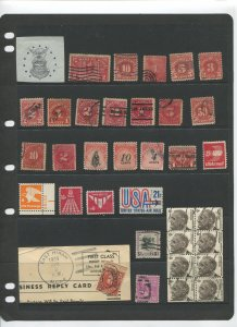 STAMP STATION PERTH USA Early Selection of 35 Stamps Unchecked Mint /Used-Lot 34