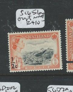 SWAZILAND (P1907B) QEII 1/2C/1/2D SG 65 VAR LOW OVPT  MNH