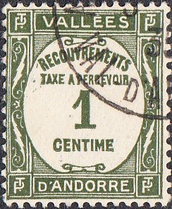 French Andorra #J16  Used