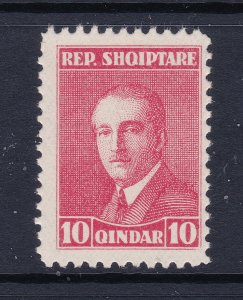 Albania the 10q red MNH from 1925 perf 11.5