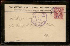 Guatemala 1900 Local Mourning Cover 92803