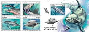 Z08 ANG18105ab ANGOLA 2018 Dolphins 4v MNH ** Postfrisch