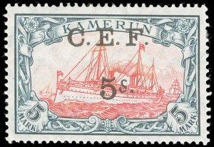 Cameroons Scott 65 Variety Gibbons 13b Mint Stamp