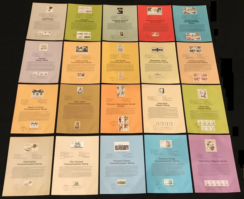 US 1983 USPS FDI Souvenir Panels Lot of 41
