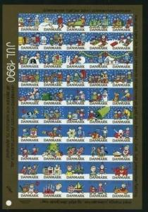 Denmark. Christmas Sheet Mnh 1990  Imperforated. Happy Children,Christmas Time.