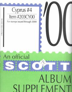 Scott Cyprus #4 Supplement 2000