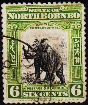 North Borneo. 1909 6c S.G.282 Fine Used