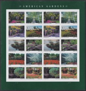 US 5461-5470 5470a American Gardens forever sheet (20 stamps) MNH 2020