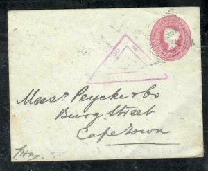 CAPE OF GOOD HOPE COVER (P3006B)  1902 QV 1D CENSOR PSE TO CAPETOWN