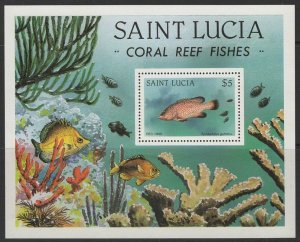 ST.LUCIA SGMS650 1983 CORAL REEF FISH MNH