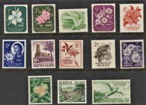 STAMP STATION PERTH Norfolk Island #29-41 Definitive Set MNH- CV$55.00