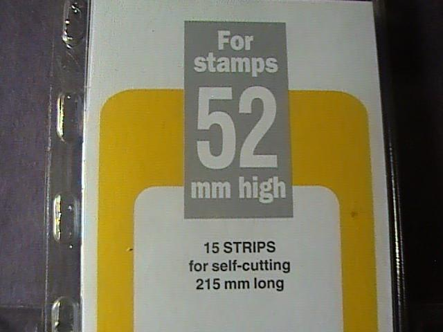 PRINZ MOUNTS/GARD--215MM LONG x 57MM HIGH---15 STRIPS---BLACK BACKROUND