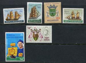 Turks&Caicos  Mocambique  MNH Ships 2297hs