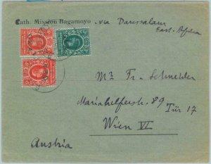 89215 - TANGANYIKA  - POSTAL HISTORY - G.E.A. Overprinted stamps on COVER 1921
