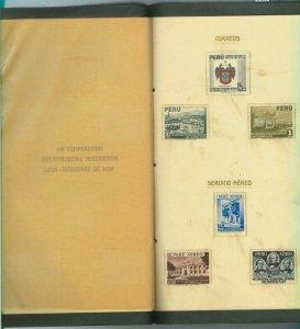 84303 - PERU - POSTAL HISTORY - OFFICIAL STAMP FOLDER 1938 American Conference