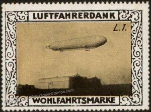 Germany Zeppelin L1 WWI Air Force Memorial Luftfahrerdank Flight MNH Cin G102795