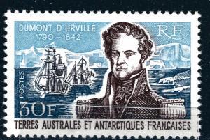 FSAT Antarctic Dumont A3 d'Urville issue (SC #30) VF MNH Cat $140...Premier!