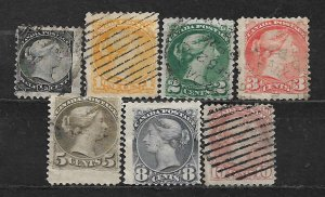 COLLECTION LOT OF 7 CANADA 1870+ STAMPS CV+ $91
