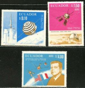 ECUADOR Sc#756-756B 1966 Space Achievements Complete Set OG MNH
