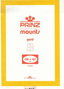 PRINZ CLEAR MOUNTS 198X187 (4) RETAIL PRICE $10.50