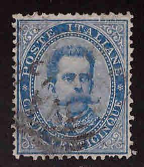 Italy Scott 48 Used 1879 King Humbert 1