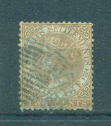 Straits Settlements sc# 10 used cat value $6.00