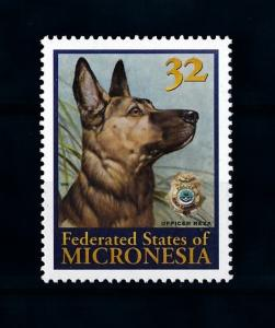 [72258] Micronesia 1996 Police Officer Dog  MNH