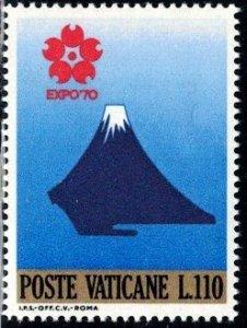 Mt. Fuji, EXPO '70 Intl. Exhibition, Osaka, Vatican City stamp SC#483 MNH