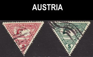 Austria Scott QE1-2 complete set F to VF used.