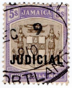 (I.B) Jamaica Revenue : Judicial 5/- (1908)
