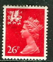 Great Britain, Region, Wales; 1982: Sc. # WMMH47: O/Used Single Stamp