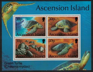 Ascension Green Turtles MS 1994 MNH SG#MS628