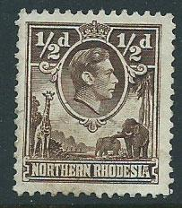 Northern Rhodesia  SG 26 Verfy Fine Used perf 12 1/2