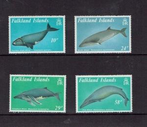 Falkland Islands:1989, Baleen Whales,  MNH set