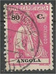 ANGOLA, 1922, used 80c Ceres Scott 151
