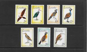BIRDS - LESOTHO #105-111  MNH